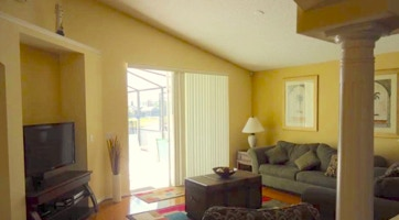 Orlando vacation homes with comfortable living areas.